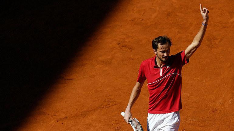 Медведев вернулся на второе место в обновленном рейтинге ATP. Фото AFP