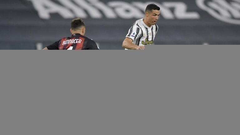 Роналду получил худшую оценку за матч «Ювентуса» с «Миланом». Фото ФК «Ювентус»