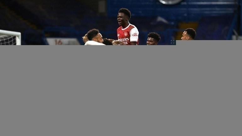 12мая. «Челси»— «Арсенал»— 0:1. Игроки лондонского клуба празднуют гол. Фото Twitter