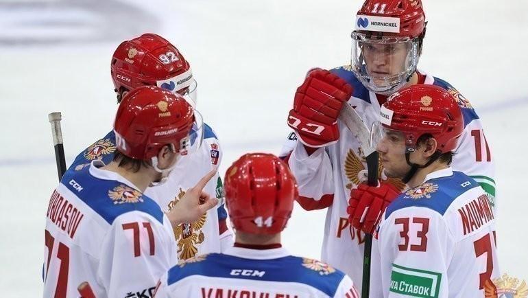 Хоккеисты сборной России. Фото ФХР