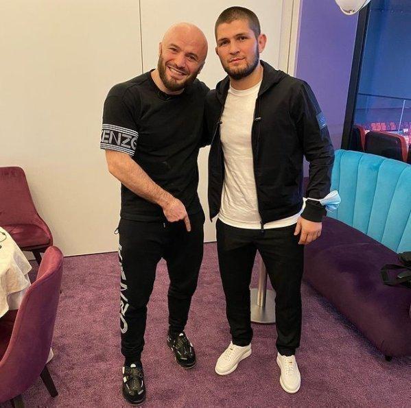 Магомед Исмаилов и Хабиб Нурмагомедов. Фото Instagram
