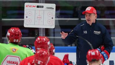 Главный тренер сборной России Валерий Брагин.