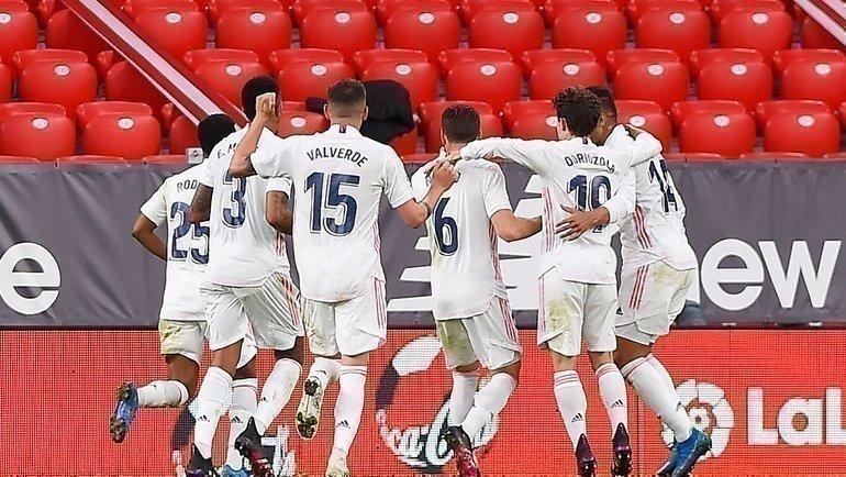 «Реал» переиграл «Атлетик» вматче 37-го тура чемпионата Испании— 1:0. Фото AFP
