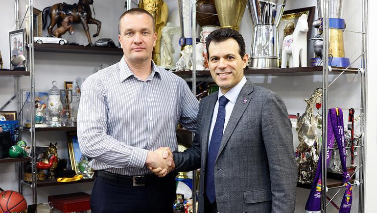 Андрей Ватутин (слева) иДимитрис Итудис. Фото БКЦСКА.