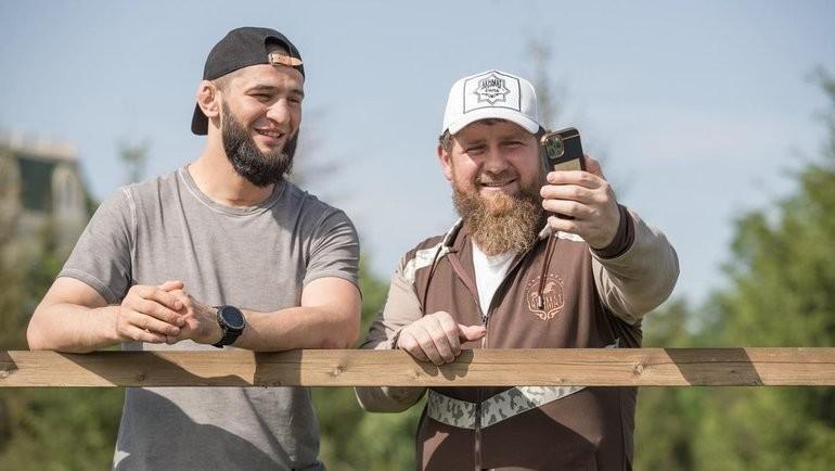 Хамзат Чимаев и Рамзан Кадыров. Фото Instagram