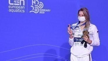 Чимрова завоевала бронзу чемпионата Европы надистанции 200 метров баттерфляем