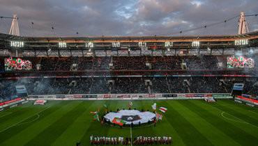 Общий вид «РЖД Арены» перед матчем.