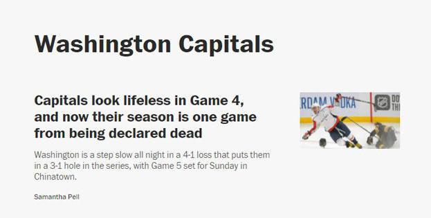 The Washington Post— обАлександре Овечкине.