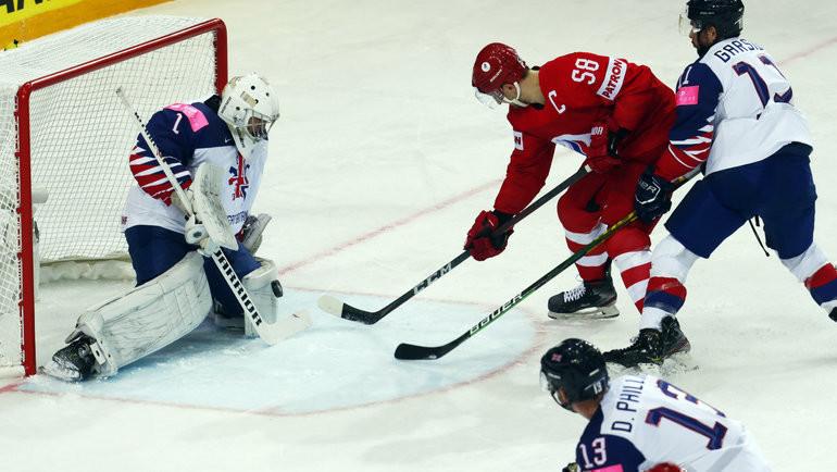 22мая. Рига. Великобритания— Россия— 1:7. Ватаке Антон Слепышев. Фото Reuters