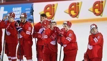 24мая. Рига. Словакия— Россия— 3:1. Хоккеисты сборной России после матча.