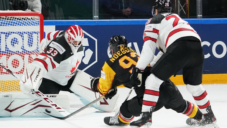 Сборная Канады сенсационно проиграла Германии наЧМ-2021. Фото IIHF