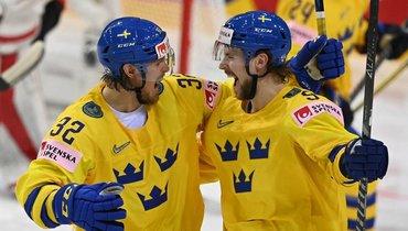 25мая. Рига. Швейцария— Швеция— 0:7. Магнус Нюгрен иАдриан Кемпе.