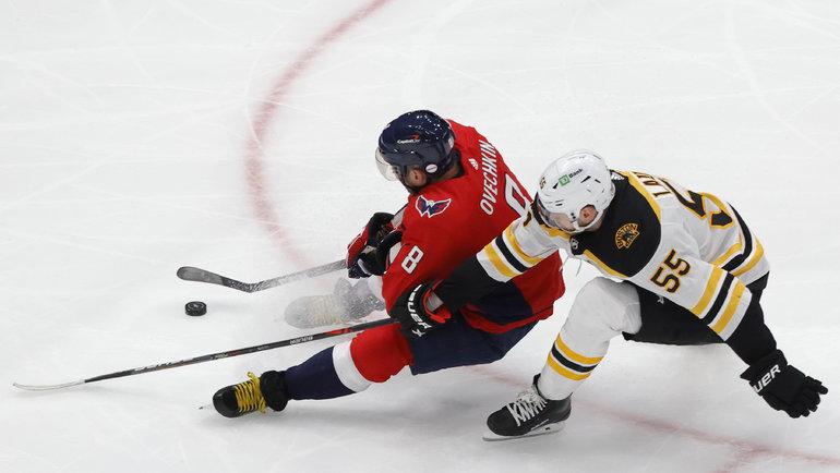 «Бостон» остановил Александра Овечкина. Фото USA Today Sports