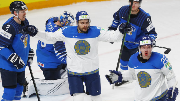 Кирилл Панюков (№22) вматче против сборной Финляндии. Фото Reuters