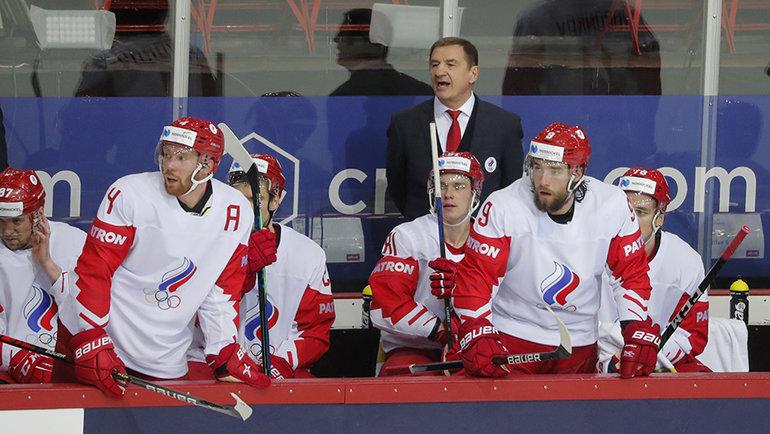 Валерий Брагин ихоккеисты сборной России. Фото Reuters