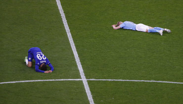 Фото дня: эмоции Зинченко иХаверца после финала Лиги чемпионов