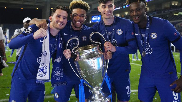 Игроки «Челси» празднуют победу вЛиге чемпионов. Фото Reuters