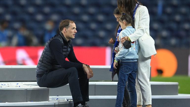 Томас Тухель иего семья. Фото Reuters