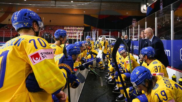 Игрок сборной Швеции. Фото IIHF