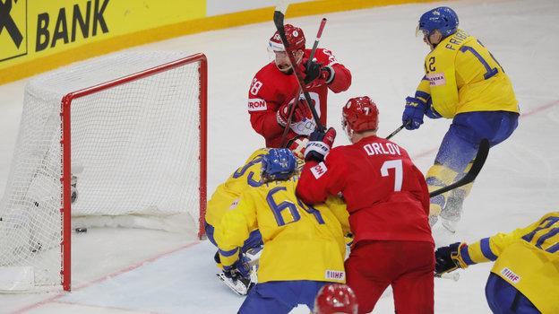 31мая. Россия— Швеция— 3:2Б. Фото AFP
