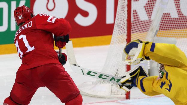 31мая. Россия— Швеция— 3:2Б. Фото ФХР
