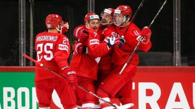 Сборная России победила Швецию наЧМ (3:2 Б). Фото IIHF