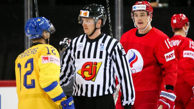 Сборная Швеции проиграла России наЧМ-2021 инесмогла выйти вплей-офф. Фото IIHF