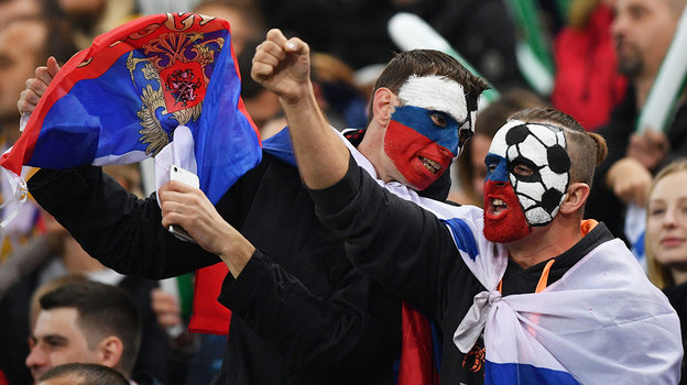 Российских болельщиков непустят вДанию. Фото Александр Федоров, «СЭ»