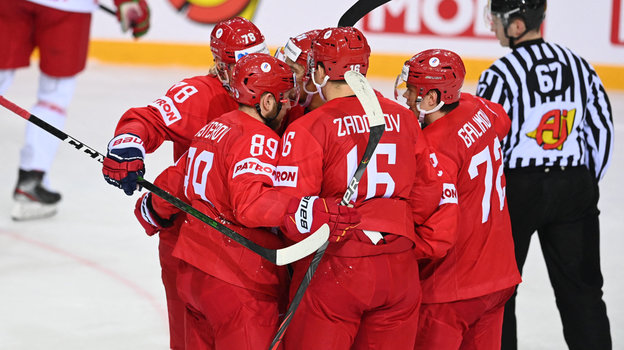 1июня. Рига. Россия— Белоруссия— 6:0. Радость российских хоккеистов.