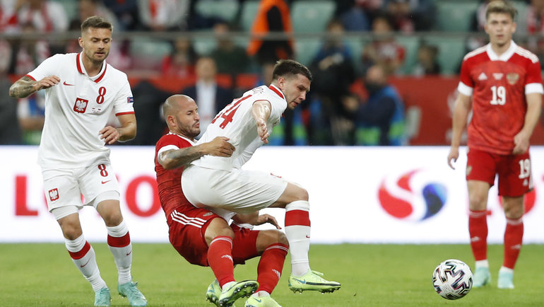 1июня. Вроцлав. Польша— Россия— 1:1. Вигре Федор Кудряшов. Фото Reuters