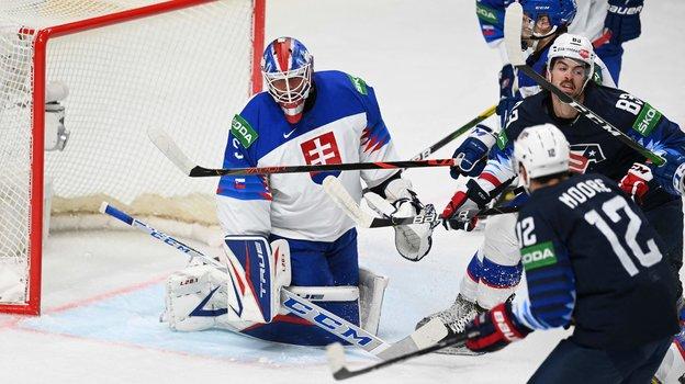 Сборная США победила сборную Словакии. Фото AFP