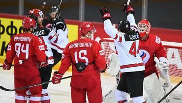 3июня. Рига. Россия— Канада— 1:2 ОТ. Адам Хенрик сравнял счет.