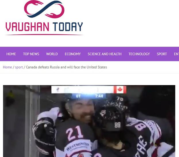 Vaughan Today— оматче Россия— Канада.