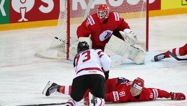 Сергей Бобровский вматче Россия— Канада.