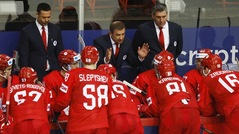 Тренерский штаб сборной России под руководством Валерия Брагина. Фото Reuters
