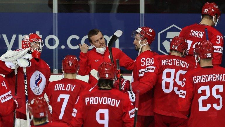Хоккеисты сборной России после поражения отКанады. Фото ФХР