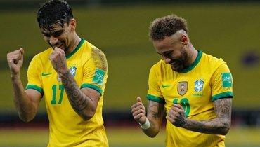 5июня. Бразилия— Эквадор— 2:0. Лукас Пакета иНеймар.