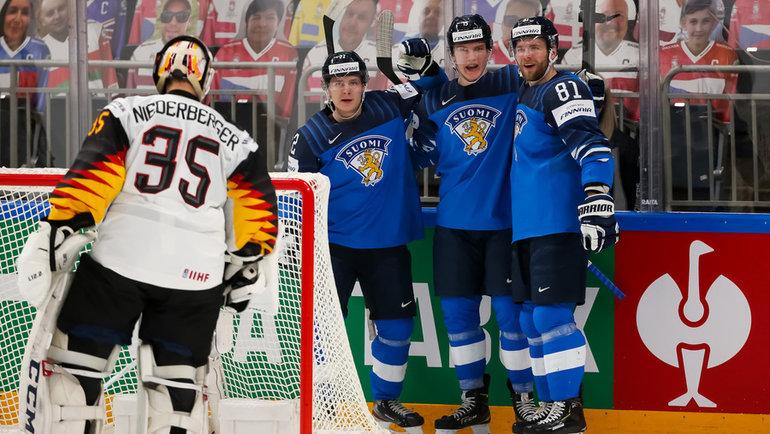 Сборная Финляндии обыграла Германию (2:1) ивышла вфинал ЧМ-2021. Фото IIHF