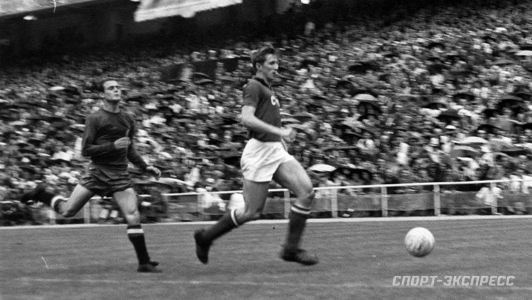 1964 год. Сборная Испании— сборная СССР— 2:1. Фото -