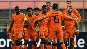 Футболисты сборной Голландии.