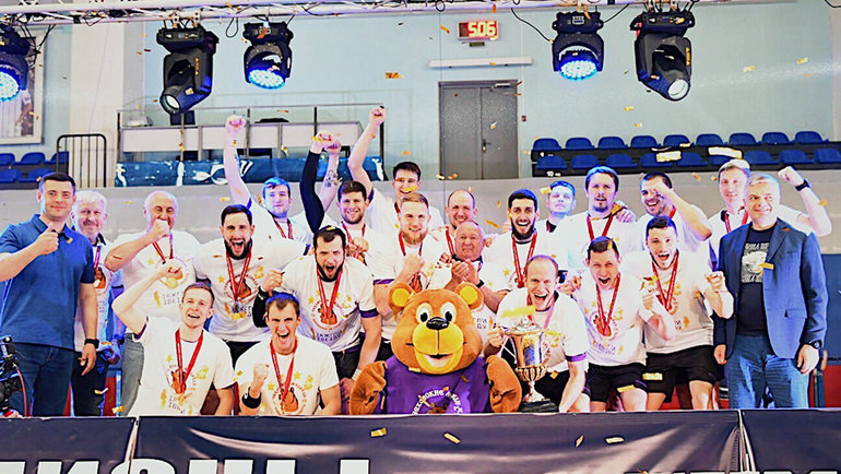 «Чеховские медведи» стали 20-кратными чемпионами России погандболу. Фото ГК «Чеховские медведи»