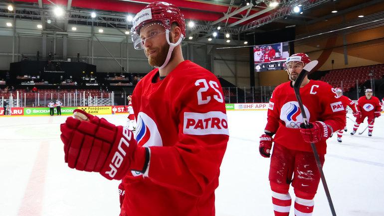 Хоккеисты сборной России. Фото IIHF