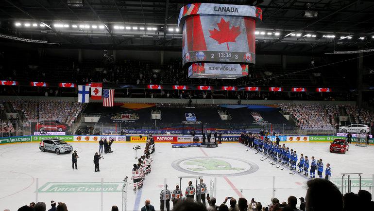 6июня. Рига. Финляндия— Канада— 2:3 ОТ. Фото AFP