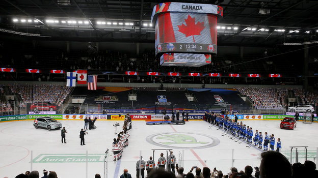 ЧМпохоккею 2021, финал Канада— Финляндия— 3:2 ОТ, репортаж изРиги