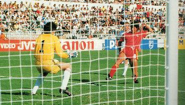 15июня 1986 года. Леон. СССР— Бельгия— 3:4. Энцо Шифо забивает гол.
