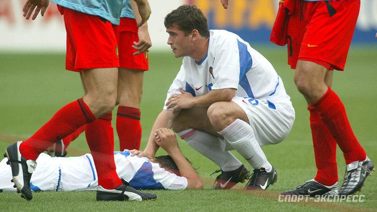 2002 год. Бельгия— Россия— 3:2. Александр Кержаков. Фото Александр Федоров, «СЭ»