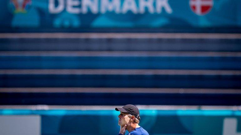 Главный тренер сборной Дании Каспер Хьюлманд. Фото AFP