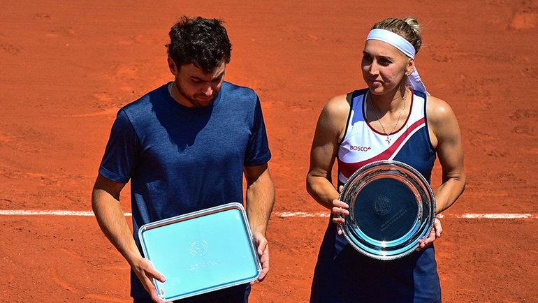 Аслан Карацев и Елена Веснина. Фото AFP
