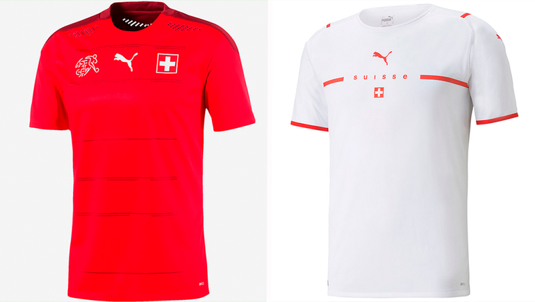 Форма сборной Швейцарии.