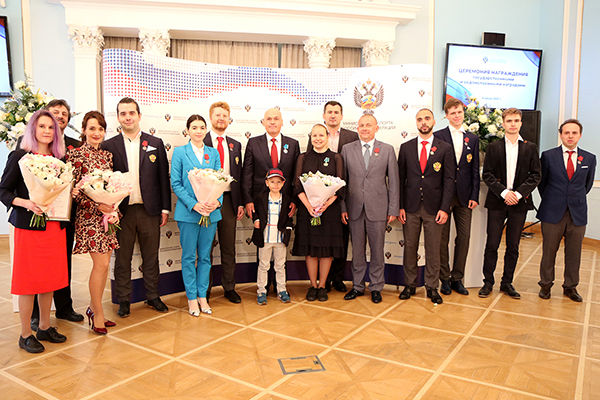 Российским шахматистам вручены государственные награды. Фото Этери Кублашвили